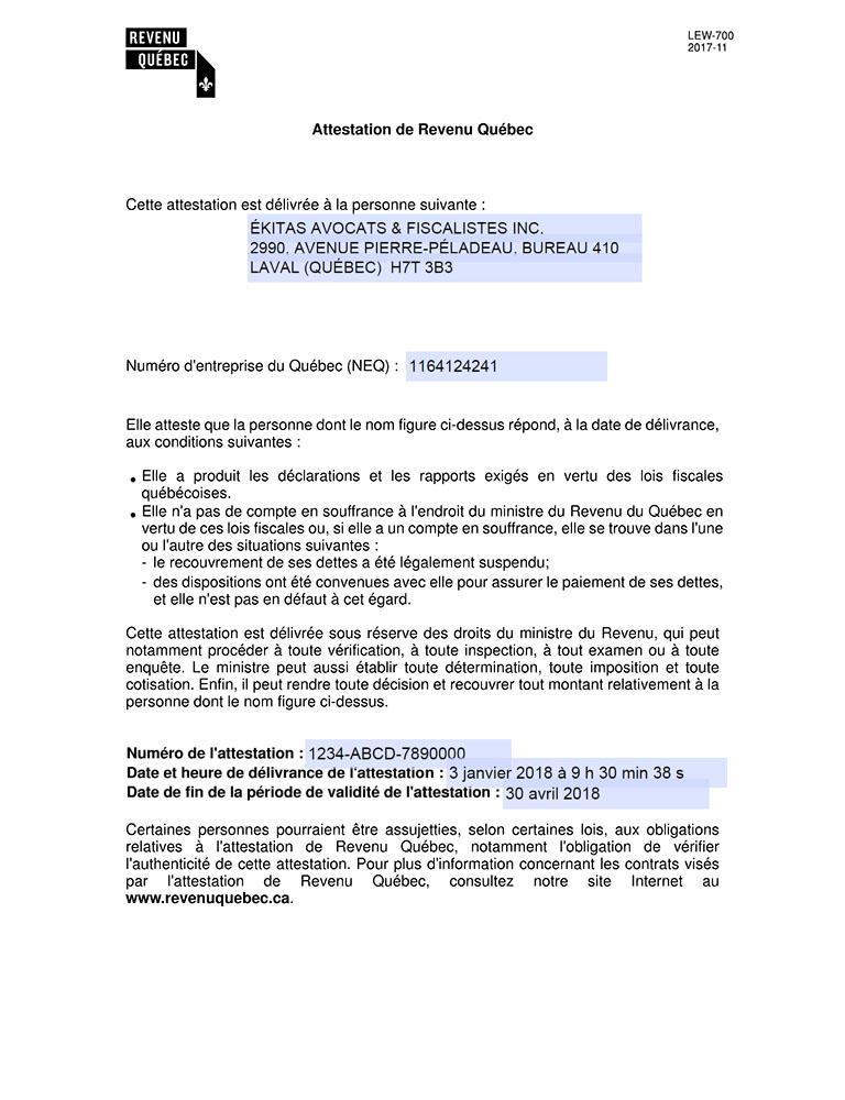 Annexe Modeleattestation Revenuquebec Ekitas Avocats Et